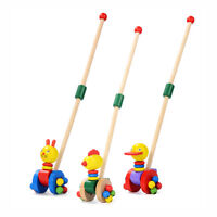Baby Toddler Infant Wooden Learn To Walk Push Along Toy Kid Educational Toys - unbranded/generic - ebay.co.uk