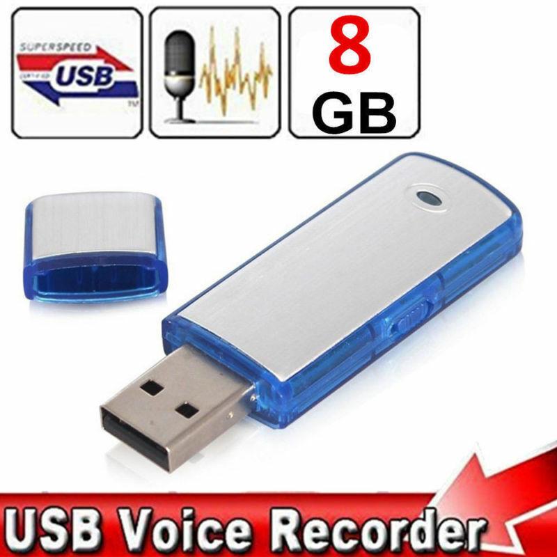 8GB Mini Digital Diktiergerät Aufnahmegerät Audio Voice Recorder USB Stick -DHL