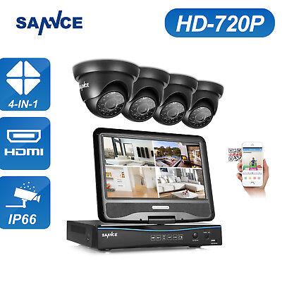 "4CH 720P 10.1"" LCD Videoüberwachung Set  HDMI CCTV Kamera Sicherheitssystem KIT"