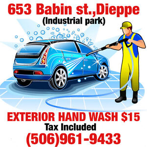 EXTERIOR HAND WASH $15!!! TAX IN!!!