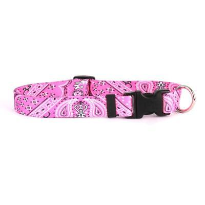 - NEW Pink Dog and Cat Collar in Bandana Pattern by Yellow Dog Design