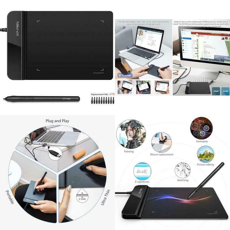 Computer Graphics Tablet Digital OSU Drawing Pen Ultrathin X