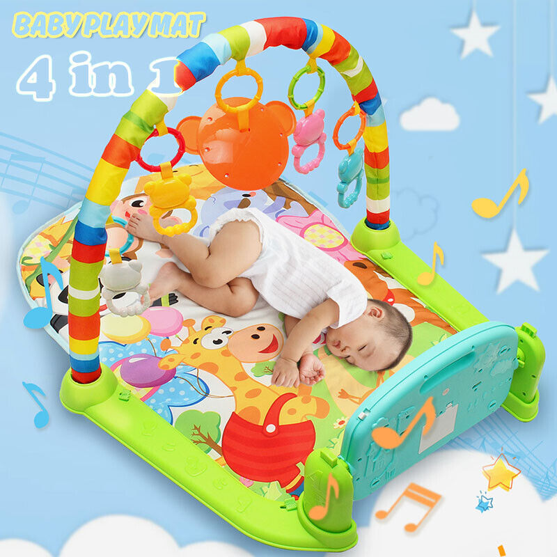 Baby Play Mat Gym Floor  Musical Activity Center Kick And Play Piano Toy Soft US
