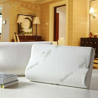Memory Foam Pillow Bamboo Pillow Cervical for Neck Pain Relief Standard Size ()