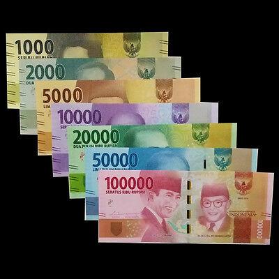 Indonesia Set 7 PCS, 1000 2000 5000 10000-100000 Rupiah, 2016/2017, UNC