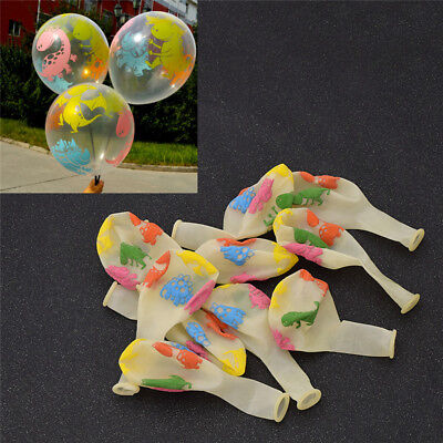 10 Pcs Transparent Balloons Lovely Dinosaur Printed for Home Party Ornament - Dinosaur Ornament