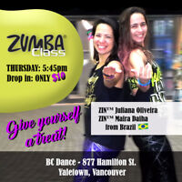 Zumba® Class/Yaletown - Every Thursday 5:45pm