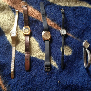 Ladies vintage manual winding watches old style no batteries