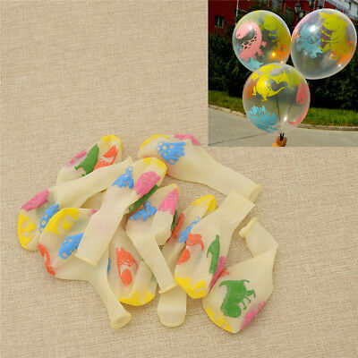 10 Pcs Dinosaur Balloons Kids Toys Transparent Dinosaur Party Supplies Latex