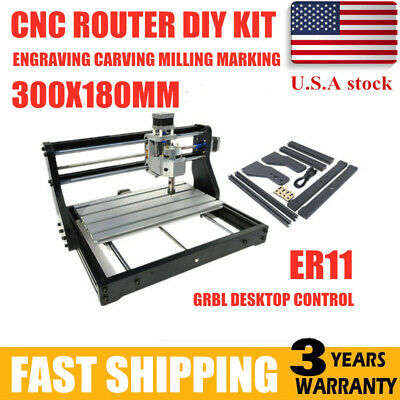 Cnc 3018pro Router Laser Engraving Machine Pcb Wood Diy Carving Milling Desktop