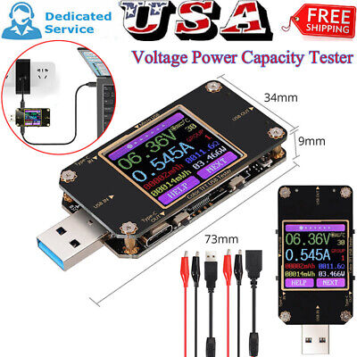 Digital Color Lcd Bluetooth Usb Type-c Power Meter Tester Pd Battery Multimeter
