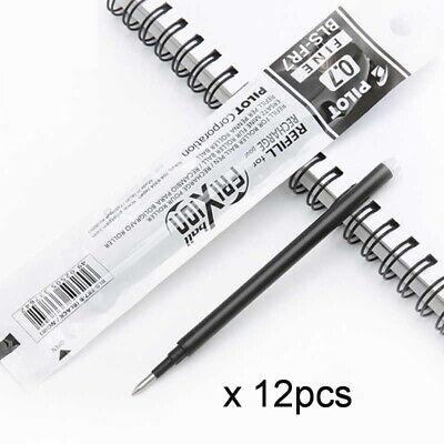12 Pcs Pilot Frixion Erasable Ball Point Gel Pen Refill Black 0.7mm Fine-japan