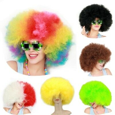Super Afro Wig Big Huge Giant 70s Disco Clown Halloween Costume Fancy Dress Hot - Huge Halloween Costumes