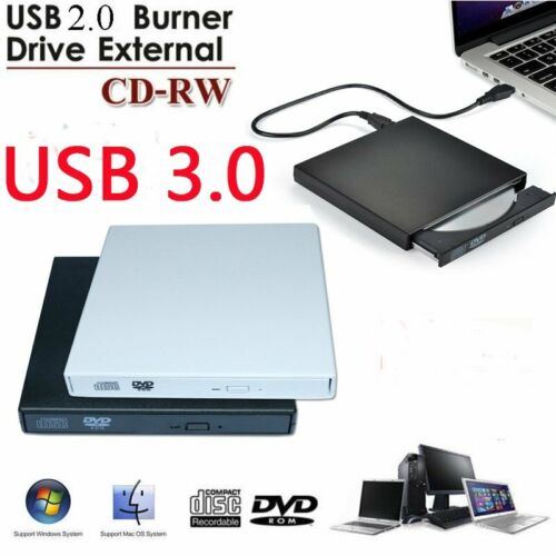 External USB2/3.0 DVD RW CD Writer Slim Drive Burner Reader
