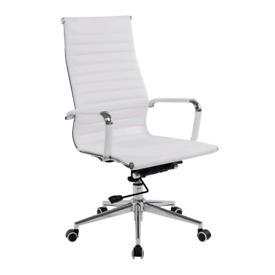 New White or Black Aria Office Chair, huge Glasgow Showroom