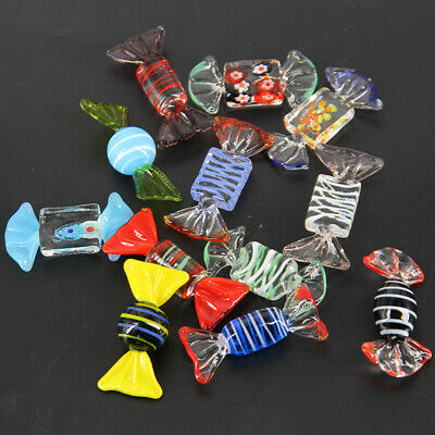 12pcs Vintage Murano Glass Sweets Wedding Xmas Party Candy Decor Gift Wish candy
