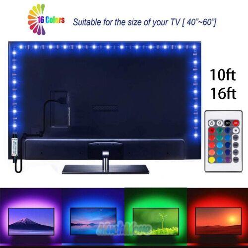 DC 5V 5050SMD RGB LED Strip Light Bar TV Back Lighting Kit+2