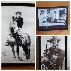 John Wayne, Clint Eastwood, Rat Pack Framed Pictures