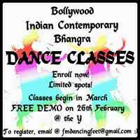 Bollywood/Indian Contemporary/Bhangra Dance Classes