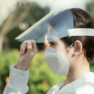 Fast shippng Safety Full Face Shield Clear Visor Dustproof Protecto medical -