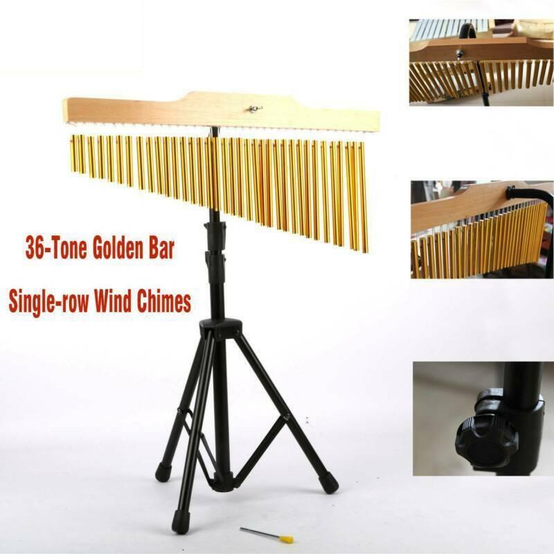 36 Tone Bar Chimes Glockenspiel Einreihige Windspiel Schlaginstrument mit Stativ
