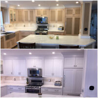 SPRAYED KITCHEN CABINETS