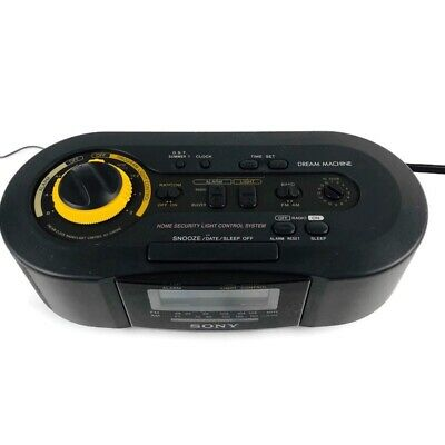 Sony ICF-C900HS Dream Machine AM/FM Clock Radio Security Light Control System