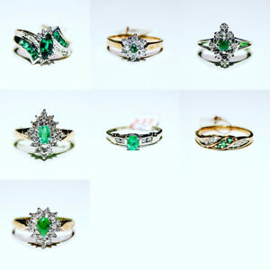 Emerald Diamond Rings for sale $100+up