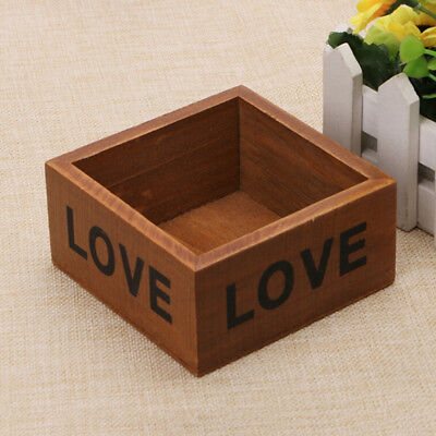 Crafts Flower Pot Wooden Storage Box Packaging Home Supplies Square Jewelry Case