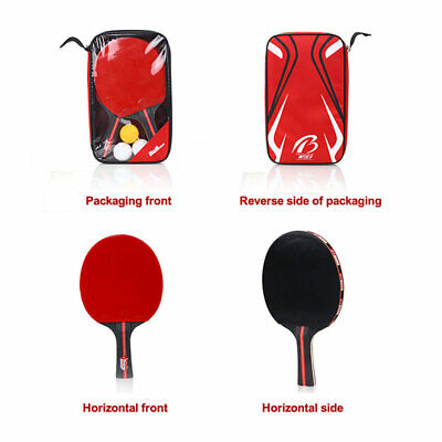 Full Set Table Tennis Bat Set Professional Ping Pong Racket Paddle with 3 Balls for sale  Shipping to Canada
