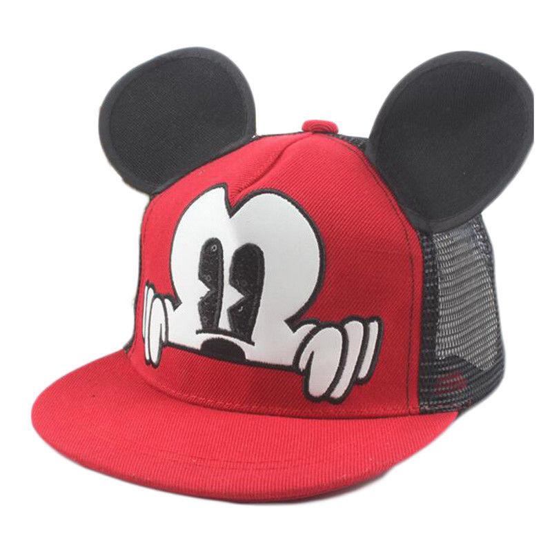 acd234ac7db Cartoons Kids Boys Girls Pokemon Pikachu Mickey Baseball Snapbacks Cap Sun  Hat