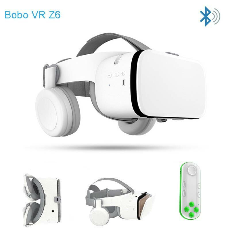 Wireless Bluetooth Z6 3D VR Headset Virtual Reality With Remote For iPhone X XR