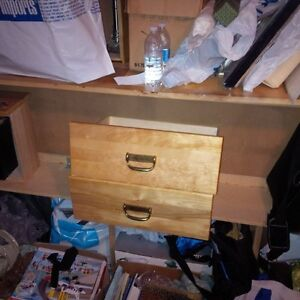 Solid Pine Twin Captain bed  6 drawers, headboard $150