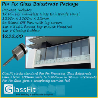 Engineered Pin Fix Frameless Balustrade Package per linear metre Yatala Gold Coast North Preview