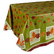 Vinyl Tablecloth with Flannel Backing
