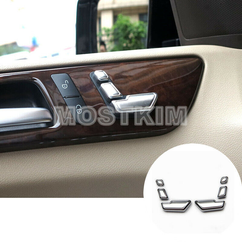 For Benz ML W166 //GL X166 2012-2015 Chrome door panel window adjust buttom cover