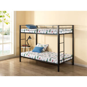 Zinus Contemporary Quick Lock Metal Bunk Bed - Twin over Twin