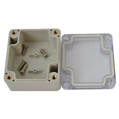Waterproof Clear Electronic Project Box Enclosure Plastic Cover Case 635835mm