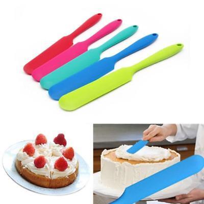 Silicone Cream Butter Spatula Spoon Kitchen Utensil Baking Mixer Scraper G