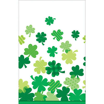 St Patricks Day Shamrock Tablecover 137cm x 259cm Plastic - Irish Party Supplies