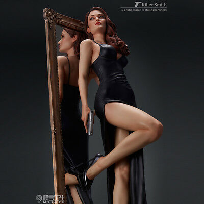 1/4 statue Killer Mr Smith&Mrs Smith Jolie Resin Figure Sexy Black Dress Limited (Mrs Smith Dress)