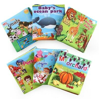 Baby Fabric Activity Crinkle Soft Books for  Infants Baby Early Educational Toys