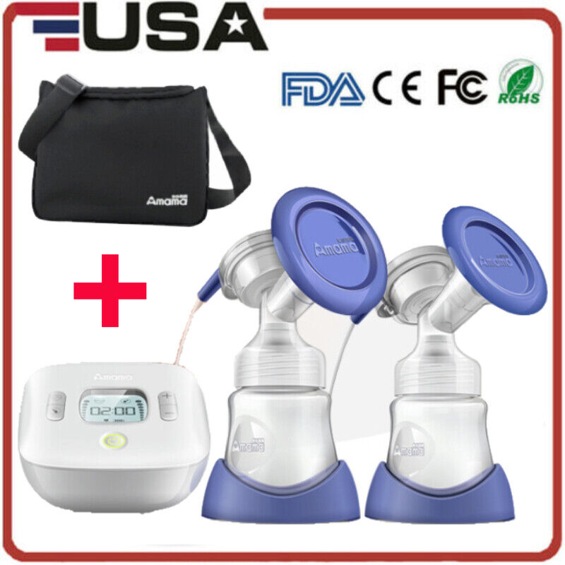 Double Electric Breast Suction Enlarger Pump Breastpump Mom Milk Extractor Soft