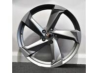 18in A9 Style Alloys & Tyres. Suit Audi A3,Volkswagen Caddy,Golf,Jetta,Passat,Seat Leon 5x112
