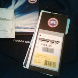 NWT Langford Parka by CANADA GOOSE men's 2XL Black
