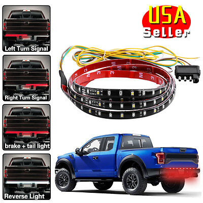 "Yita 4-Function 60"" LED Tailgate Strip Light Signal Reverse Brake for Ford Chevy"