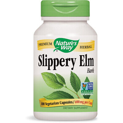 NATURES WAY - Slippery Elm Bark - 100 Capsules