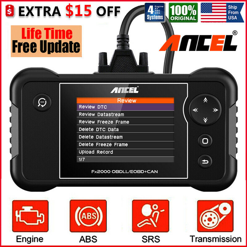 Check Engine Transmission Abs Srs Airbag Code Reader Obd2 Scanner Diagnostic