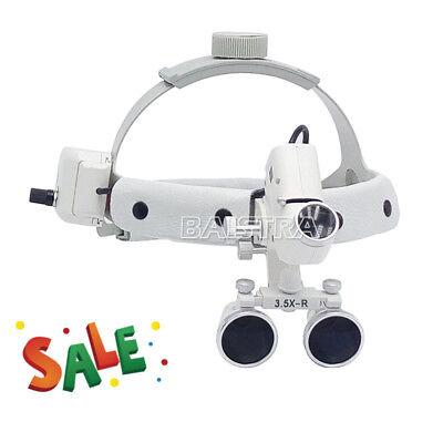 3.5x-r Dental Surgical Medical Headband Binocular Loupes With Led Head Light