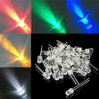 1000pcs Led Lights Diodes Round Electrical Components Conductors Replacement